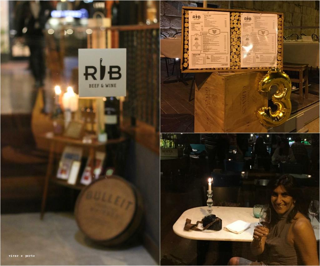 Ribeira Rib beef and Wine