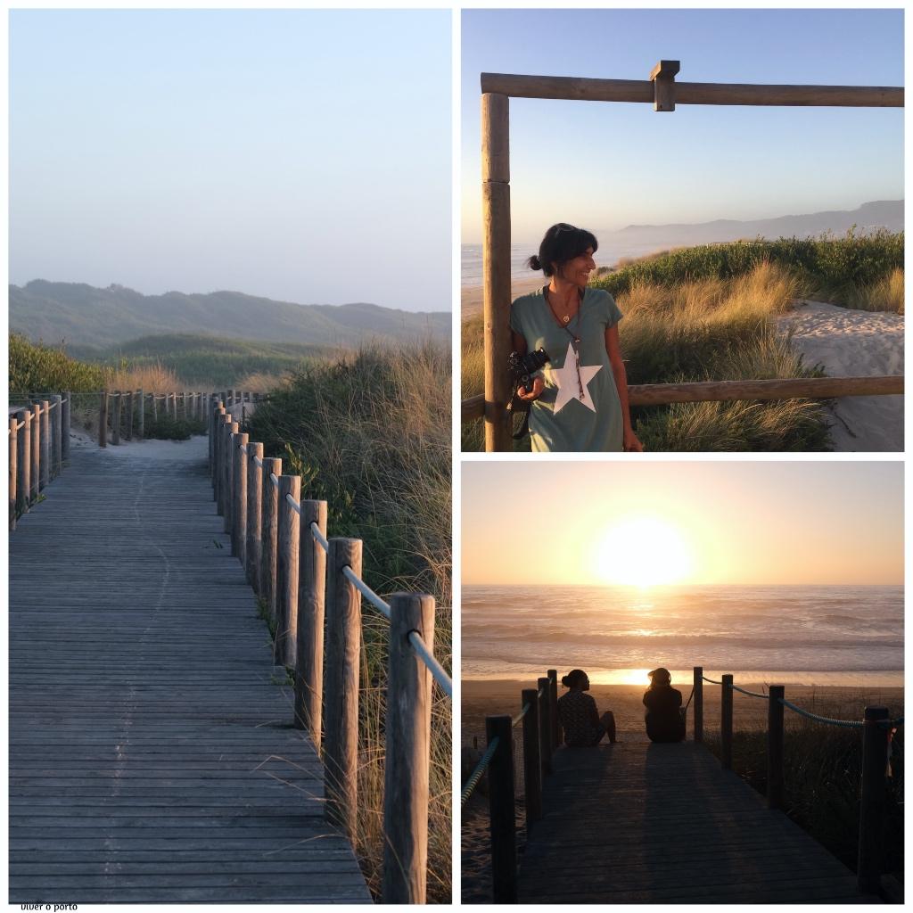 Caminha para o mar pelo verão